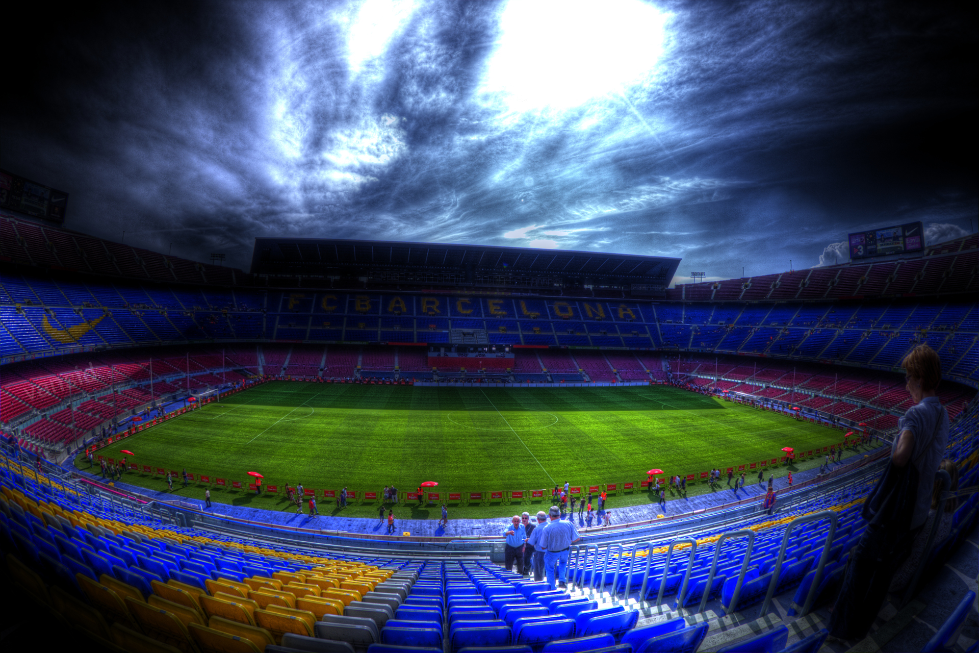 Camp Nou Full HD Wallpaper And Background Image
