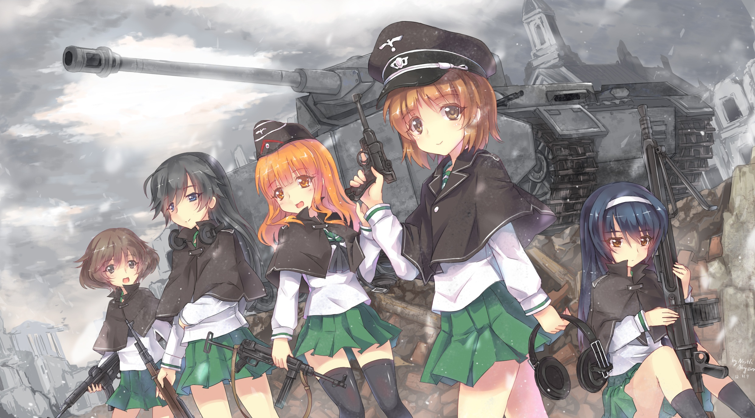 444 Girls Und Panzer Hd Wallpapers Background Images Wallpaper