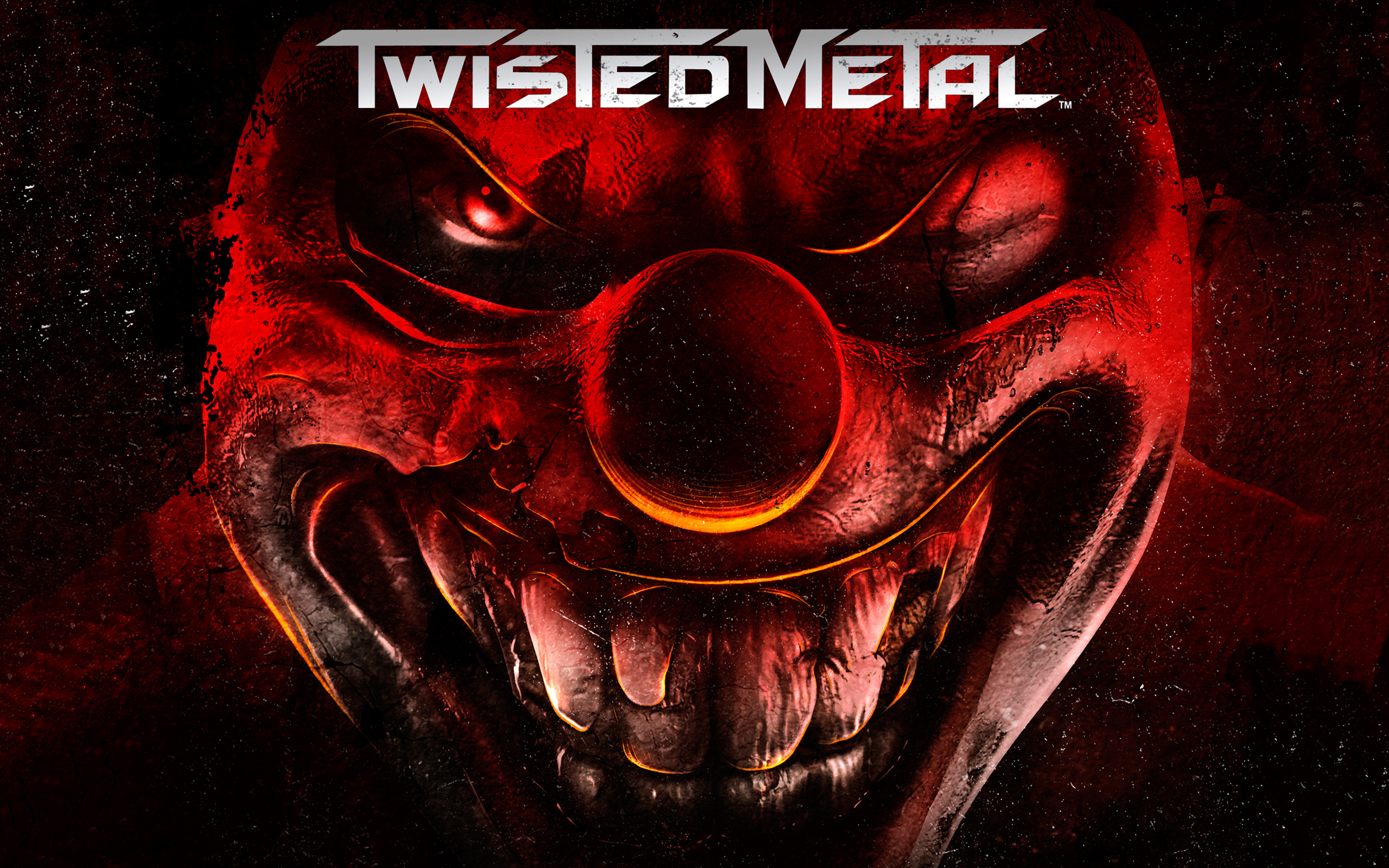 Twisted metal full hd wallpaper and background image 2560x1600 video game twisted metal clown blood ps3 wallpaper voltagebd Images