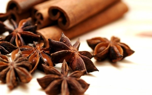 Food Herbs and Spices Cinnamon Anise HD Wallpaper | Background Image