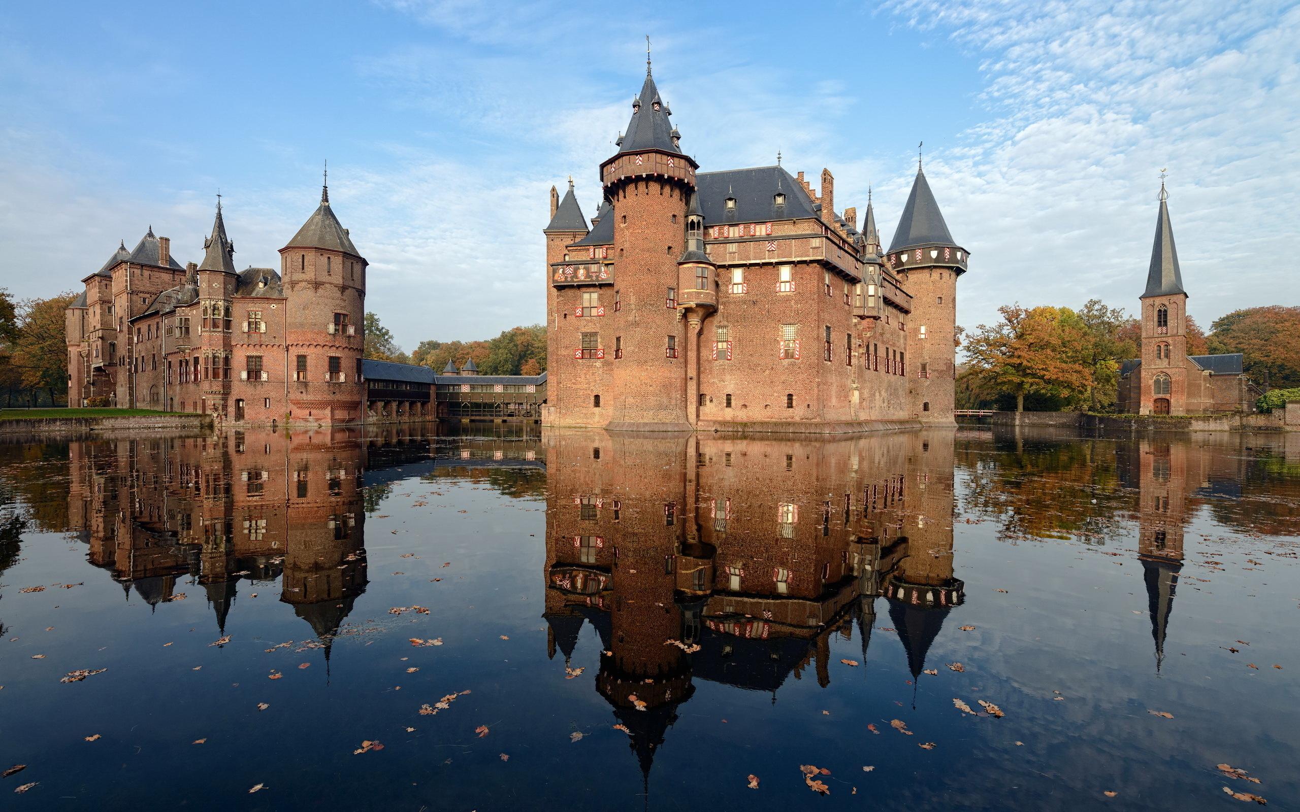 Обои нидерланды, замок, утрехт. Города foto 14