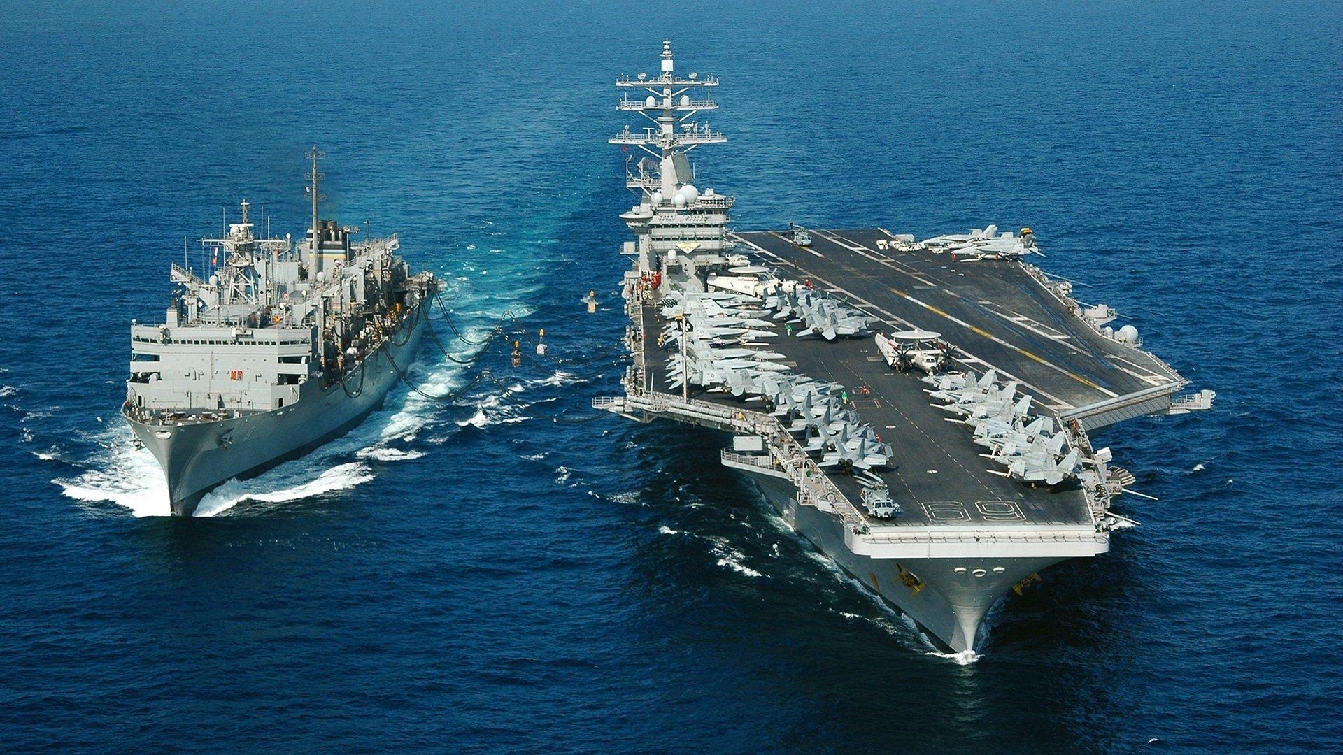 Military - USS Dwight D. Eisenhower (CVN-69)  Aircraft Carrier Warship Wallpaper