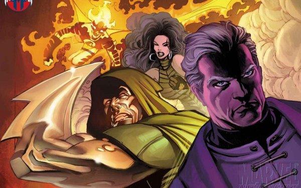 Comics Los 4 Fantásticos Human Torch Doctor Muerte Fondo de pantalla HD | Fondo de Escritorio