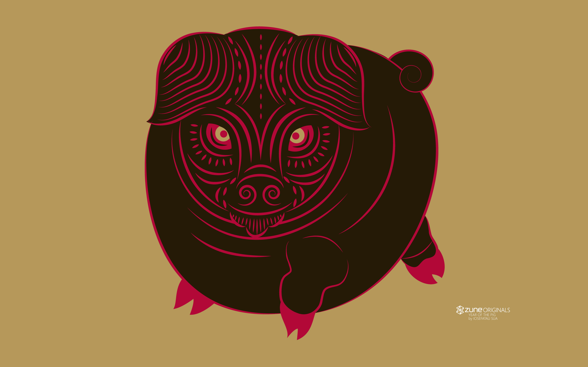 products zune zodiac pig wallpaper