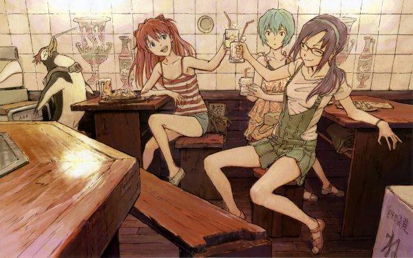 Anime Evangelion: 2.0 You Can (Not) Advance Evangelion Asuka Langley Sohryu Rei Ayanami Pen Pen Fondo de pantalla HD | Fondo de Escritorio