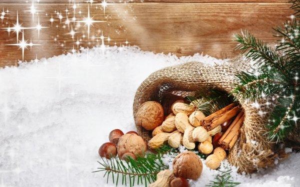 Holiday Christmas Cinnamon Nut HD Wallpaper | Background Image