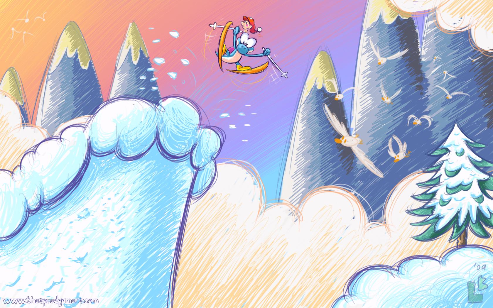Datorspel - Super Mario World 2: Yoshi's Island  Bakgrund