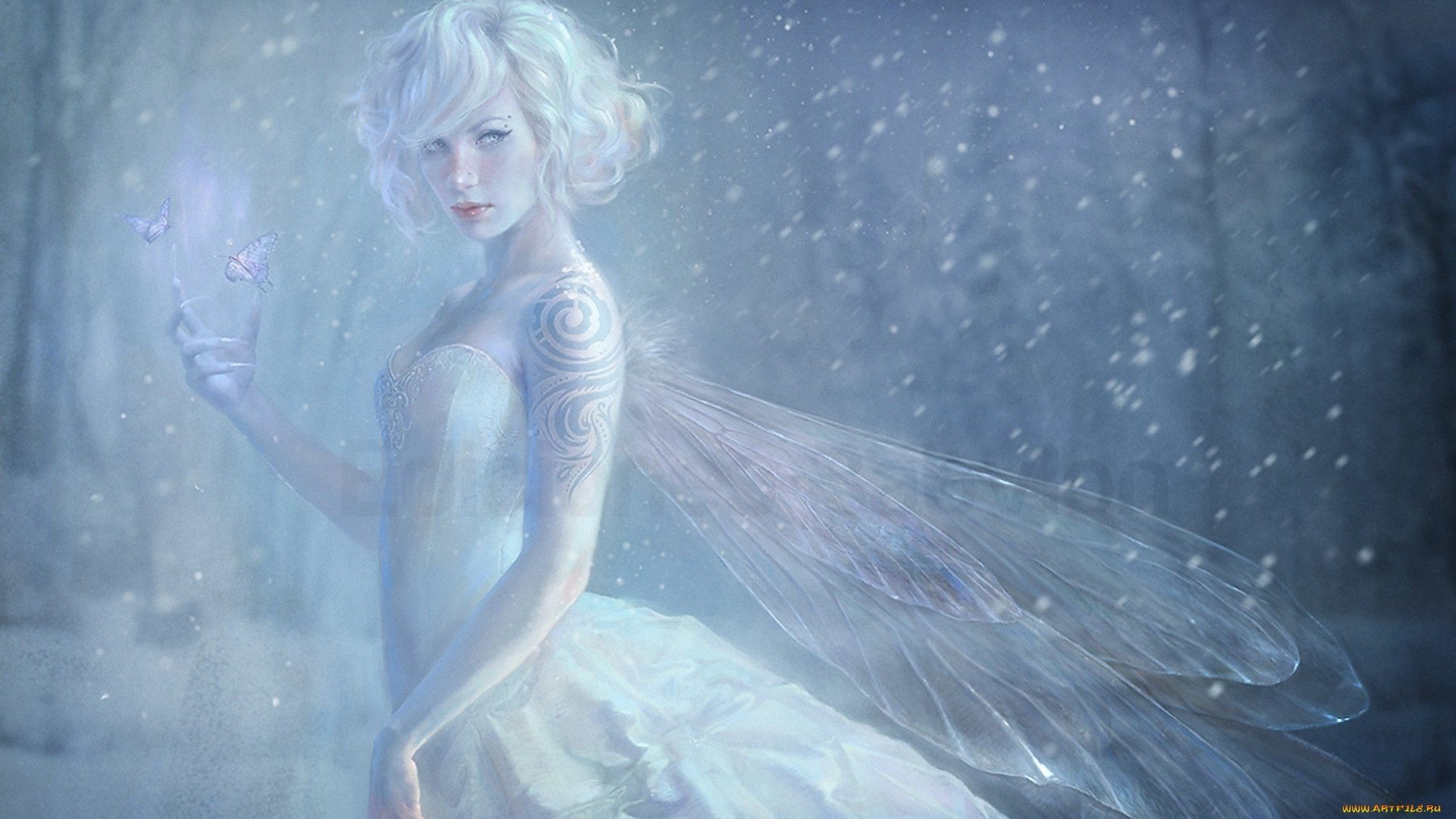 Snow Fairy HD Wallpaper | Background Image | 1920x1080 ...