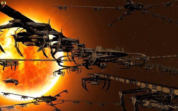 Sci Fi Star Trek Cardassian Ship 3D Space Sun Space Station HD Wallpaper   Background Image
