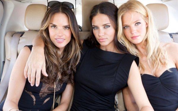 Women Model Models Adriana Lima Alessandra Ambrosio Erin Heatherton HD Wallpaper | Background Image