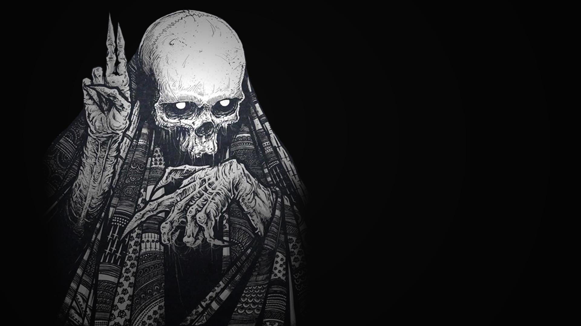 monster skull black wallpaper - photo #21