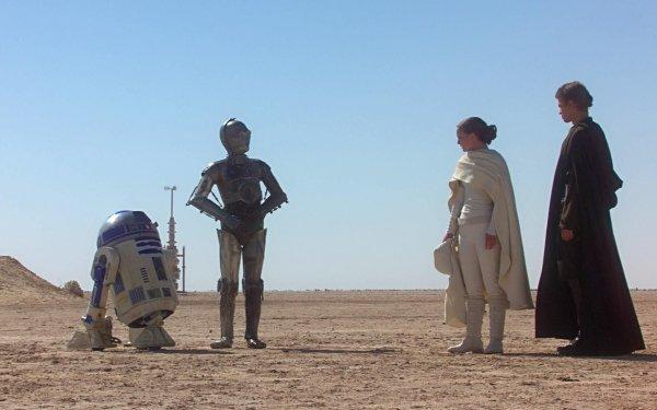 Movie Star Wars Episode Ii: Attack Of The Clones Star Wars R2-D2 C-3PO Padmé Amidala Anakin Skywalker Natalie Portman Hayden Christensen HD Wallpaper | Background Image