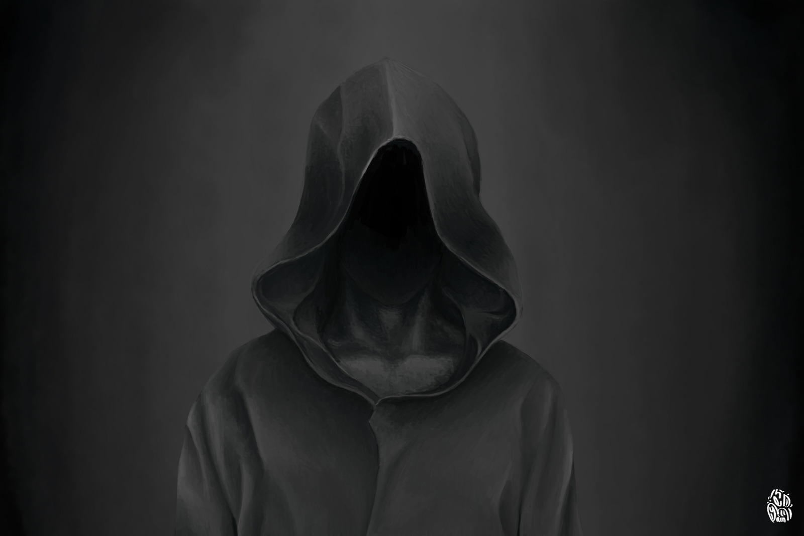 Scary Hooded Figure Wallpaper - WallsKid