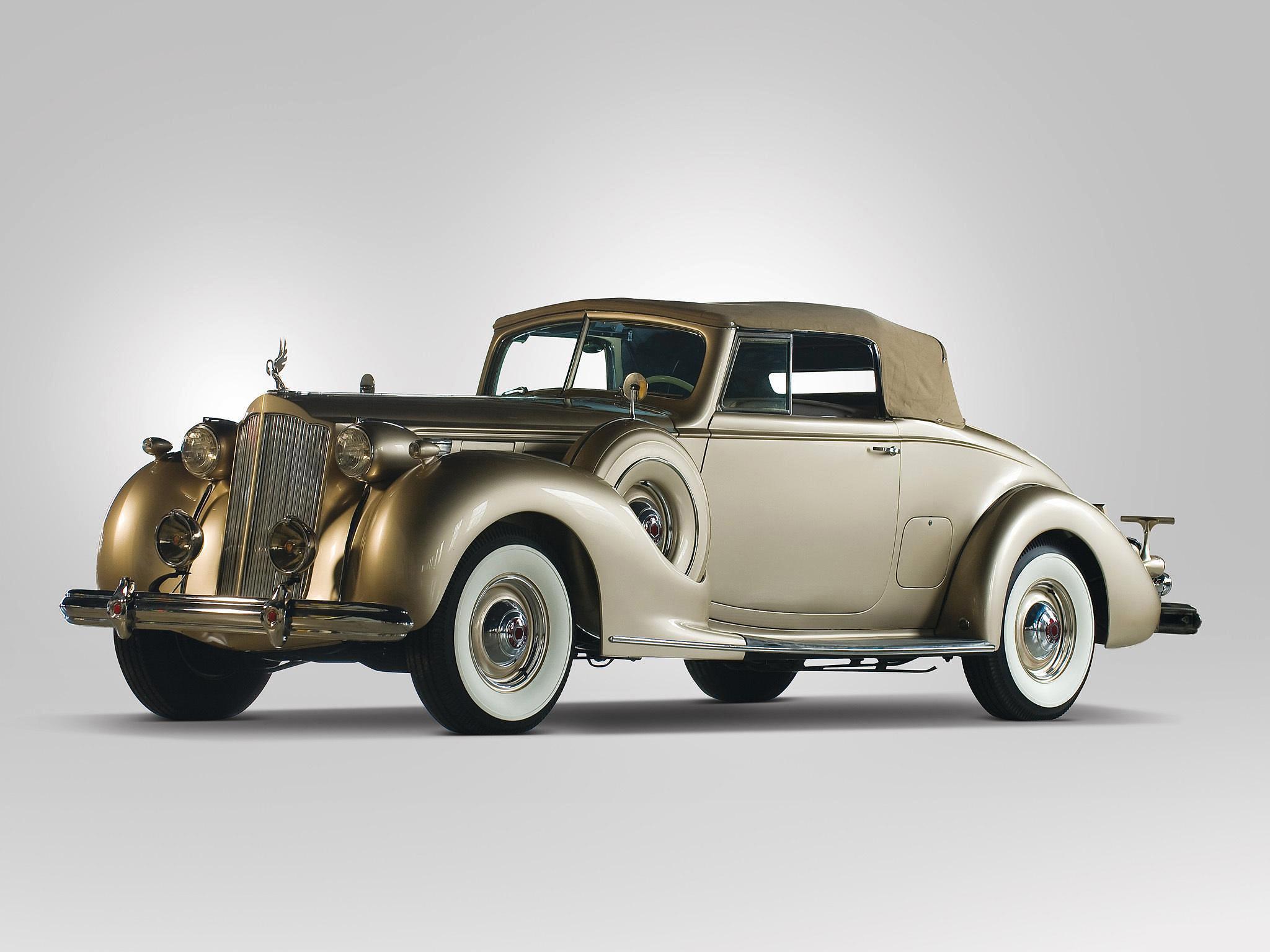 1938 Packard Twelve Convertible Coupe Full HD Wallpaper