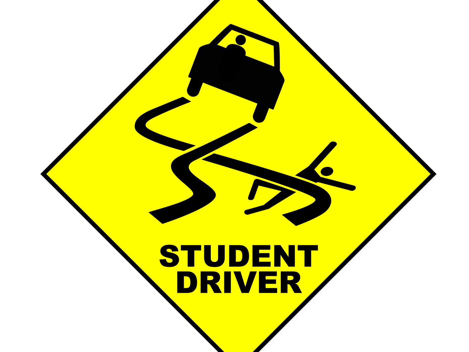 image regarding Student Driver Sign Printable identify Scholar Driver Street Indication Wallpaper and History Impression