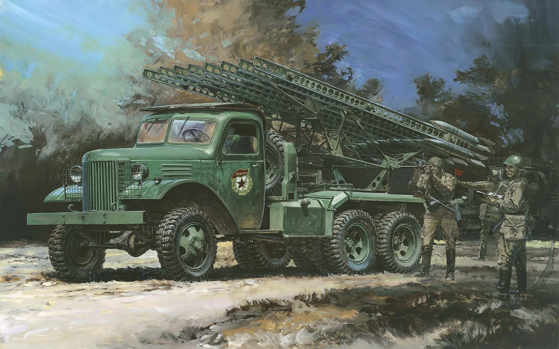 Katyusha multiple rocket launcher HD Wallpaper | Background