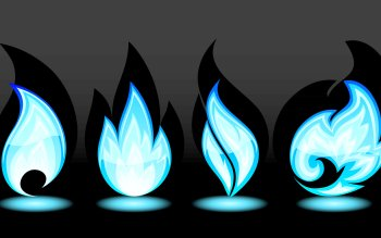 Patroon - Blue Flames Wallpapers and Backgrounds ID : 348270