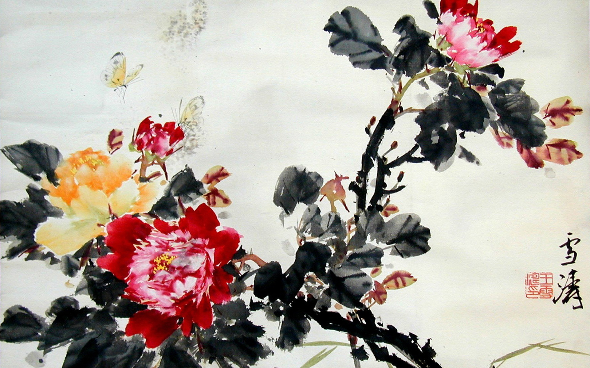 5 chinese artwork hd wallpapers backgrounds wallpaper for Chinese mural wallpaper