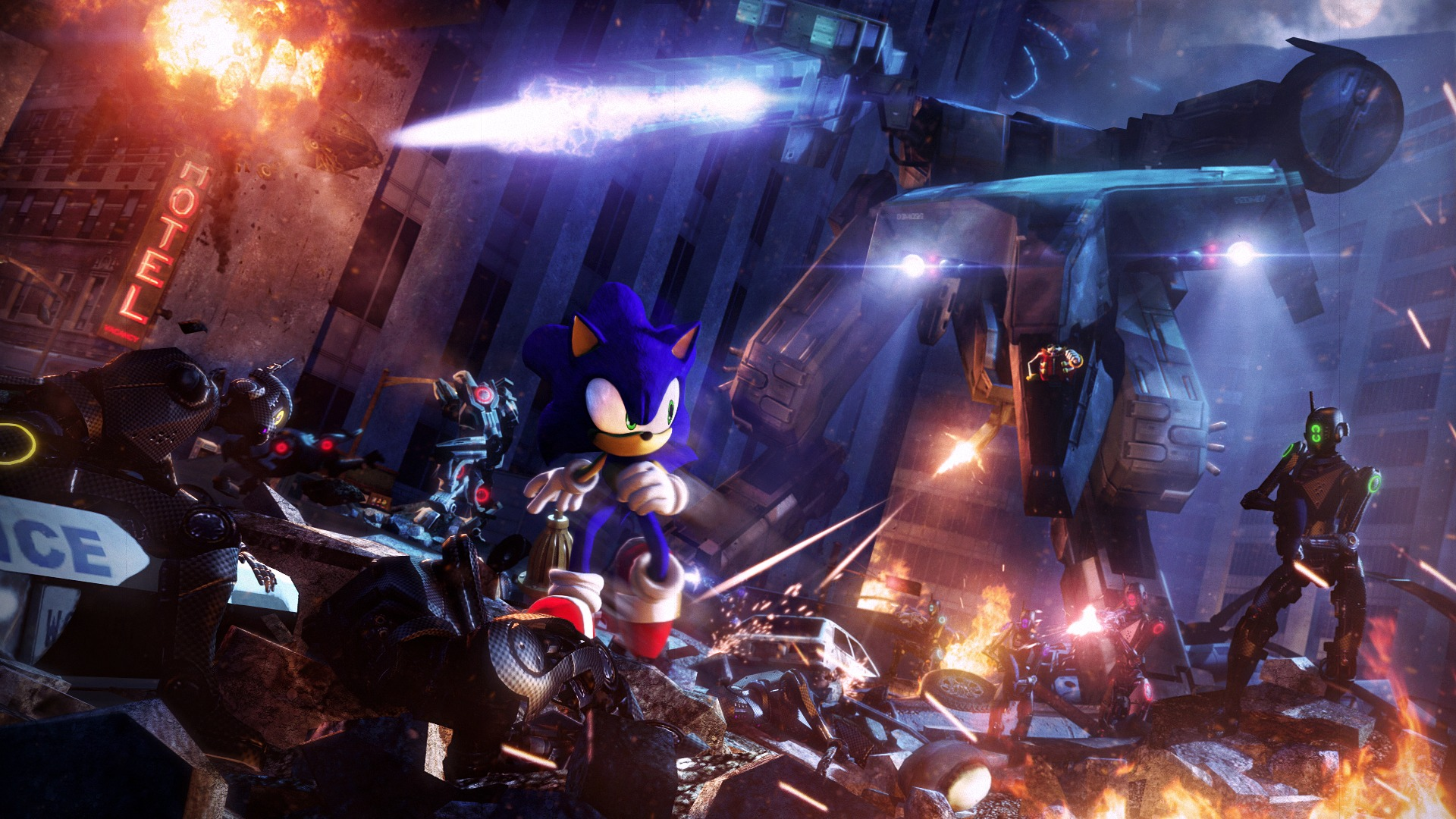 Sonic And Metal Gear Rex Hd Wallpaper Background Image