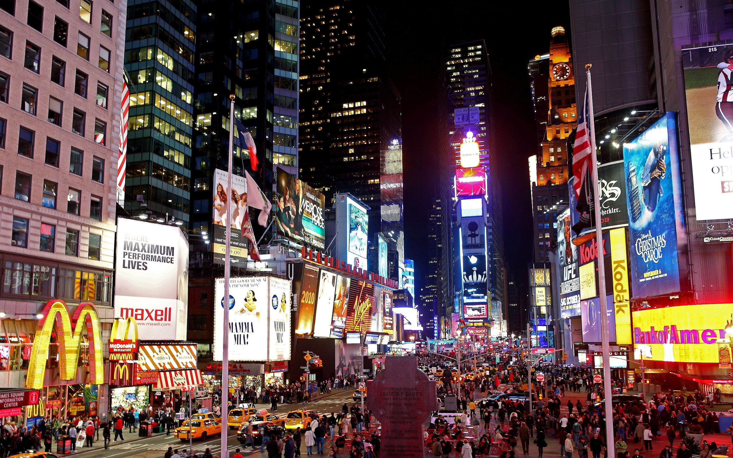 Times square full hd fond d 39 cran and arri re plan for Photo ecran times square
