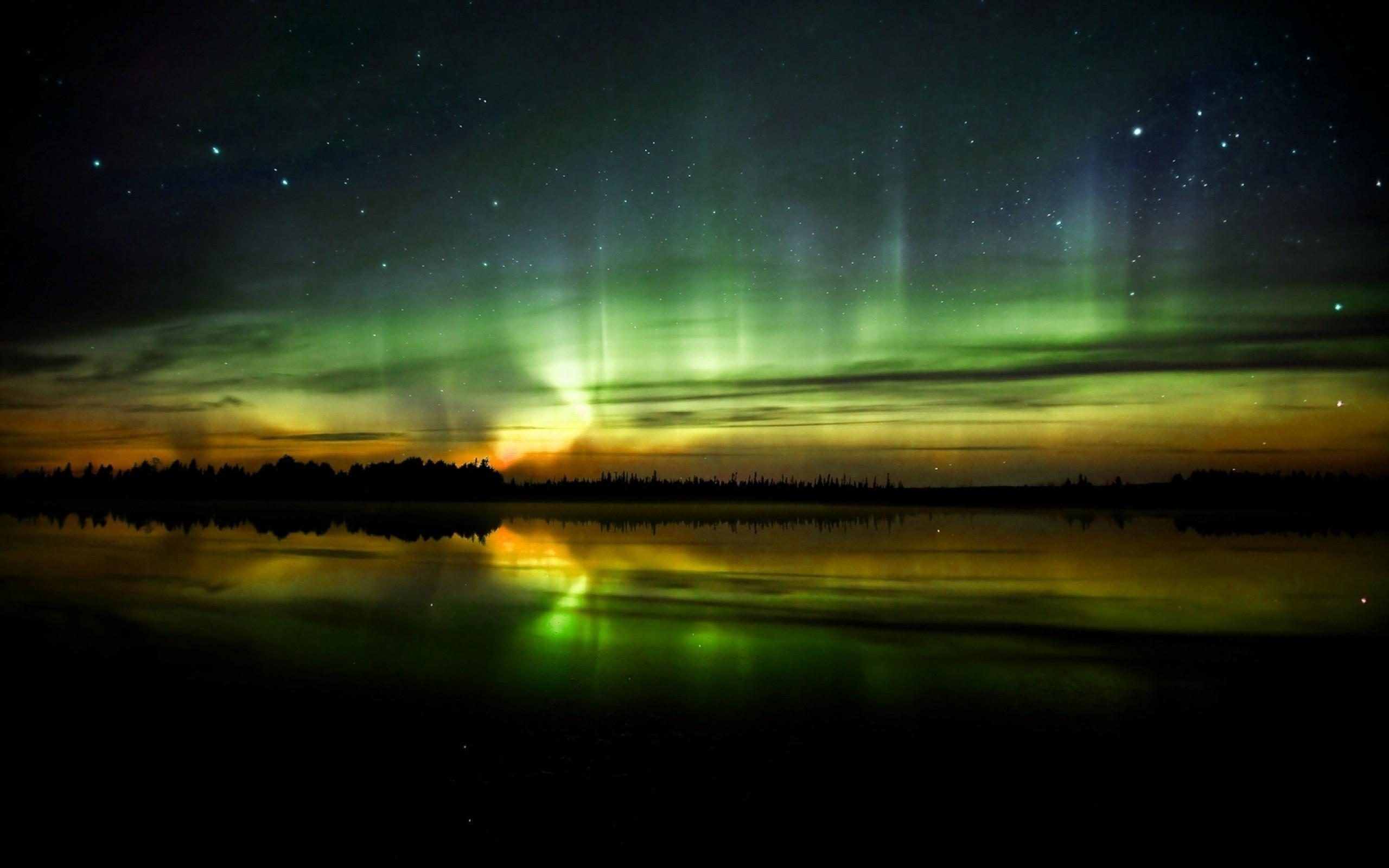 Aurora boreale sfondi per pc 2560x1600 id 360687 for Sfondi desktop aurora boreale
