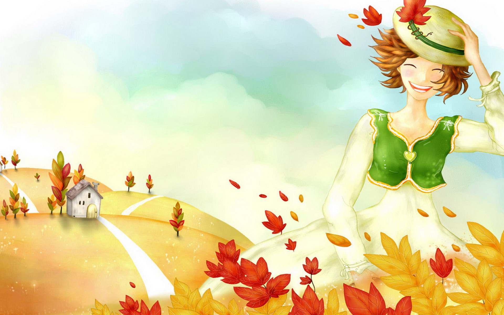 Wallpaper Fall In Love cartoon : Fall Full HD Wallpaper and Background Image 1920x1200 ID:360985
