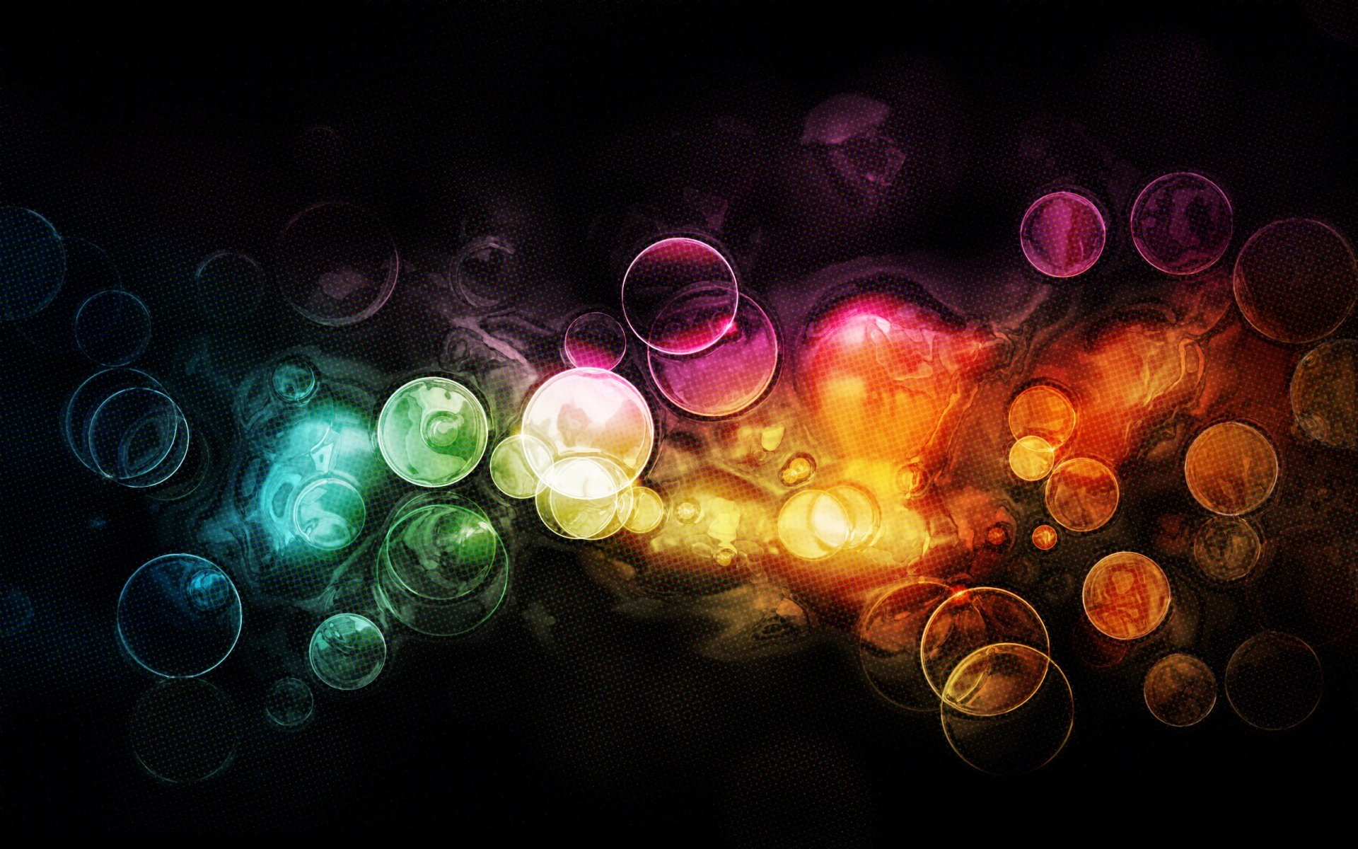 Artistic - Colors  Circle Bubble Abstract Texture Digital Digital Art Colorful Pattern Wallpaper