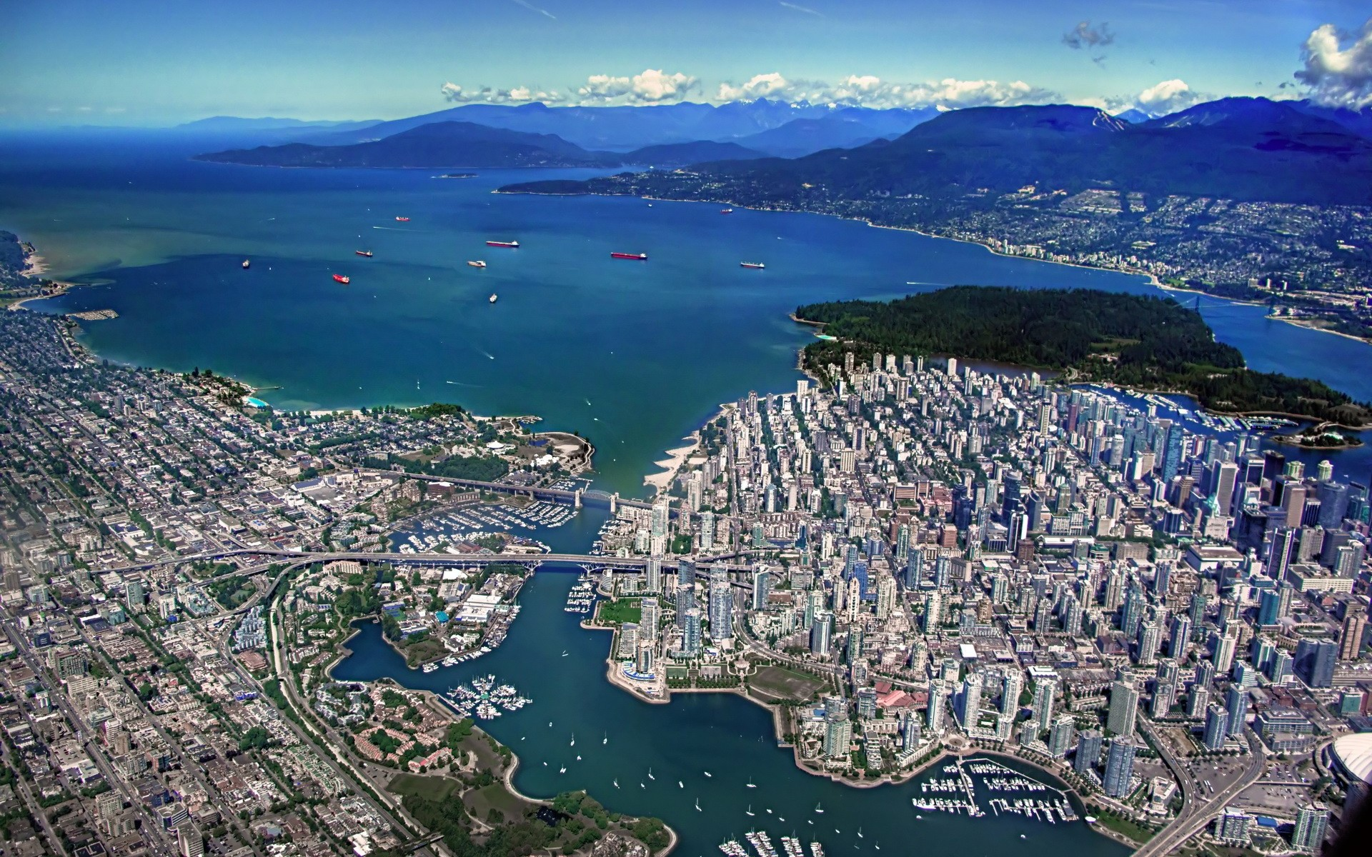 man made vancouver canada wallpaper