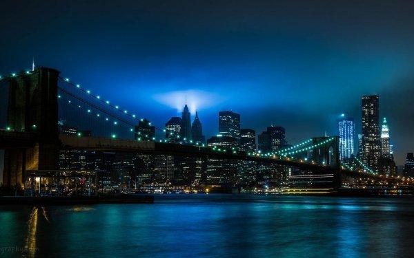 Man Made Brooklyn Bridge Bridges Manhattan New York HD Wallpaper | Background Image