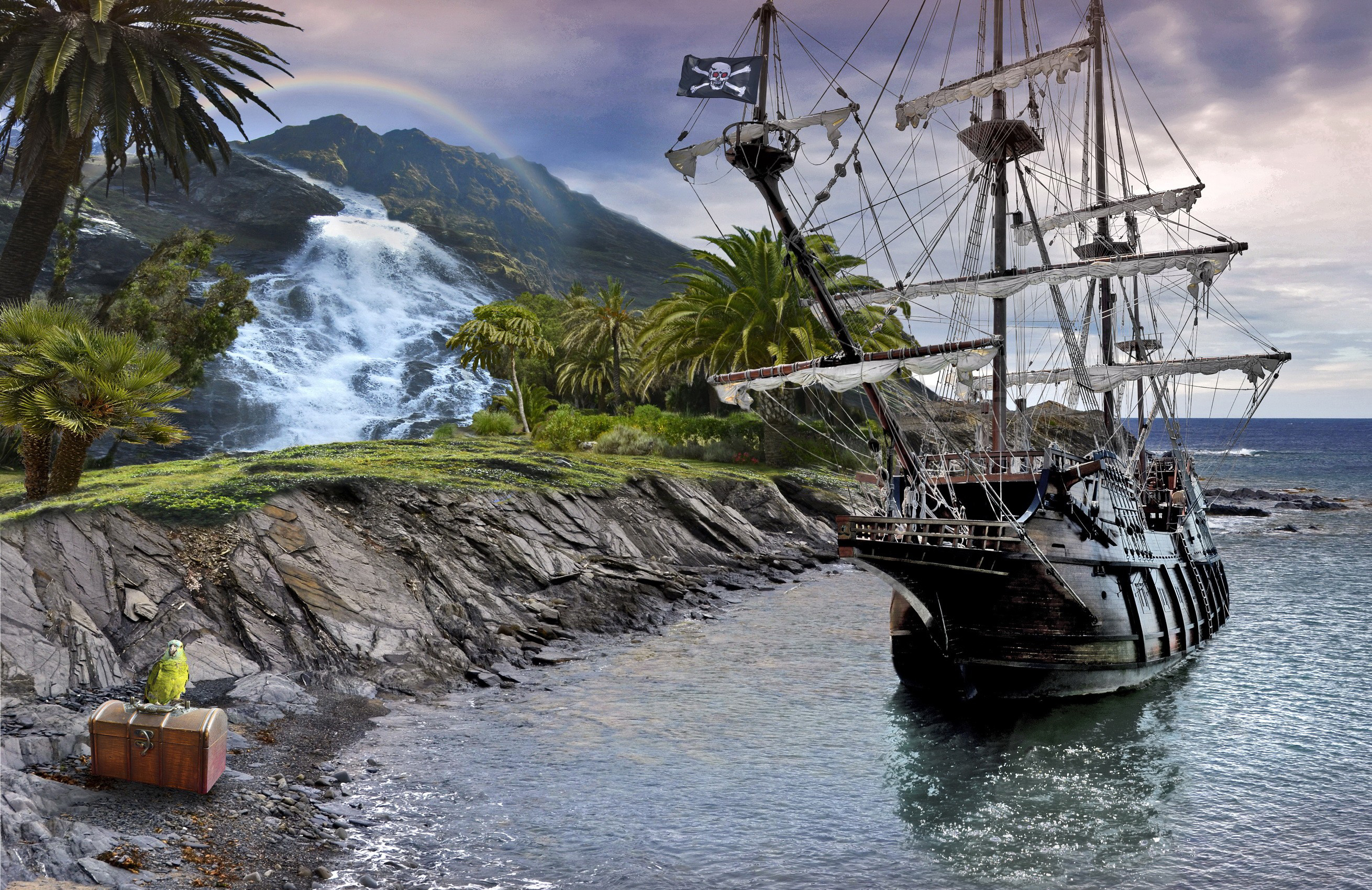 Sailing ship full hd wallpaper and background 2620x1700 for Echiquier mural