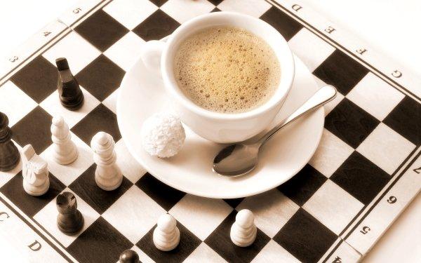 Nourriture Café Echecs Game Fond d'écran HD   Image