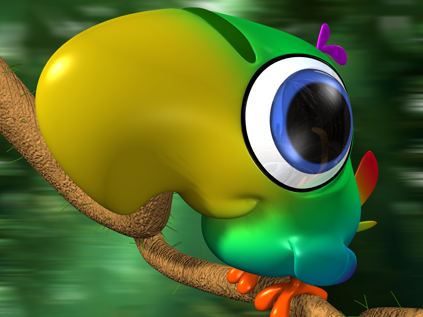 Cartoon Bird 3d Wallpaper And Background Image 1600x1200 Id