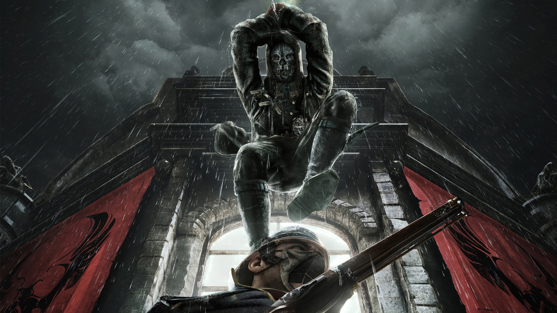 Dishonored Corvo Mask wallpaper.