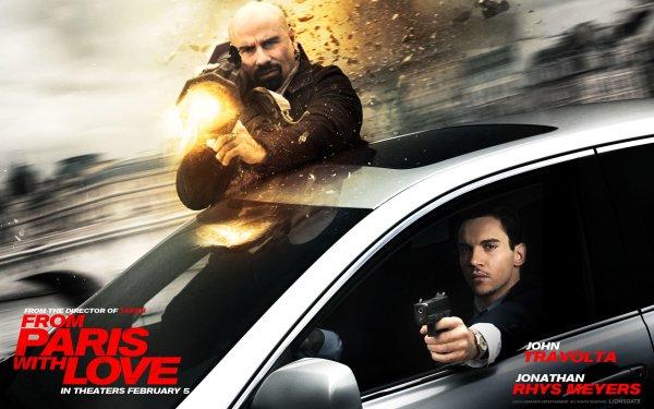 Movie From Paris with Love John Travolta Jonathan Rhys Meyers HD Wallpaper   Background Image