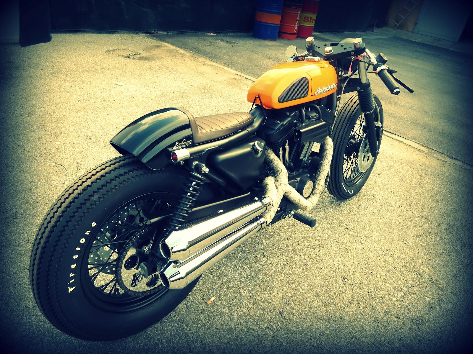 Harley davidson 883 cafe racer wallpaper and background image 1600x1200 id 374505 - Cafe racer background ...