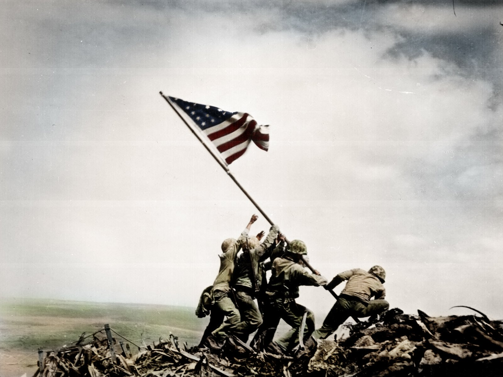 Military - Soldier  Marines Iwo Jima World War II Wallpaper