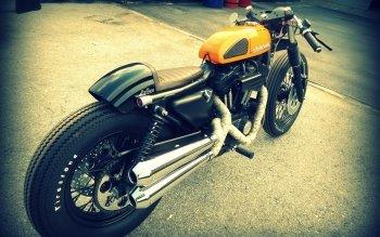 1 Harley Davidson 883 Cafe Racer Hd Wallpapers Background