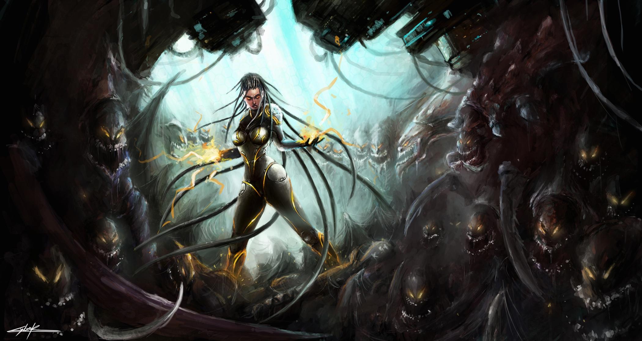 Starcraft ii heart of the swarm full hd wallpaper and - Sarah kerrigan wallpaper ...