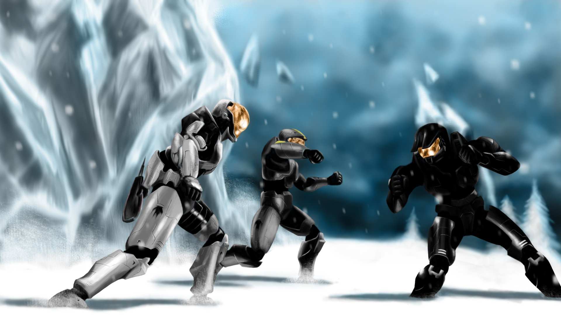 1 Red Vs Blue Hd Wallpapers Background Images Wallpaper Abyss