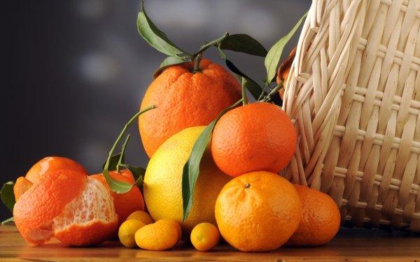 Food Mandarin Fruits HD Wallpaper   Background Image