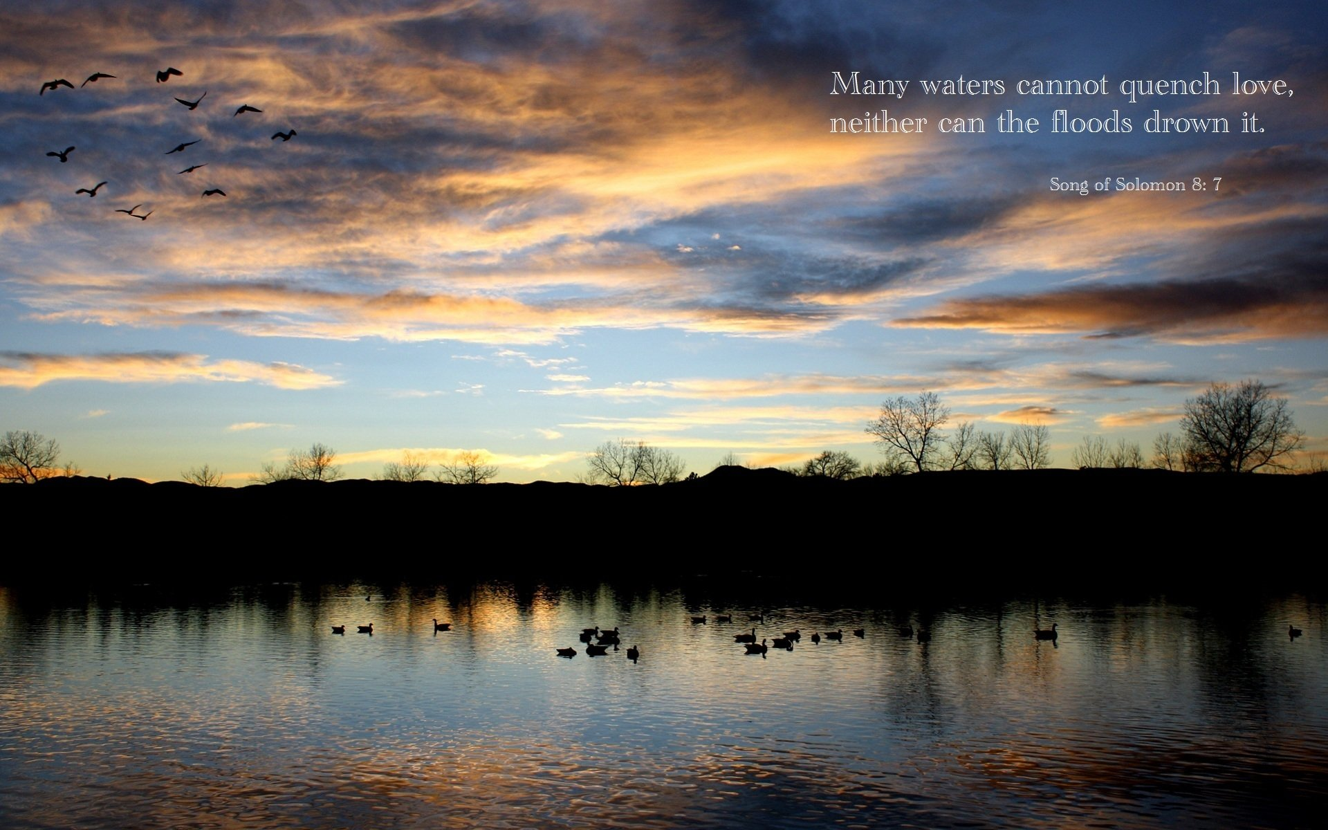 Religious - Bible Quote  Religion Religious Quote Bible Lake Sky Cloud Christian Love Wallpaper