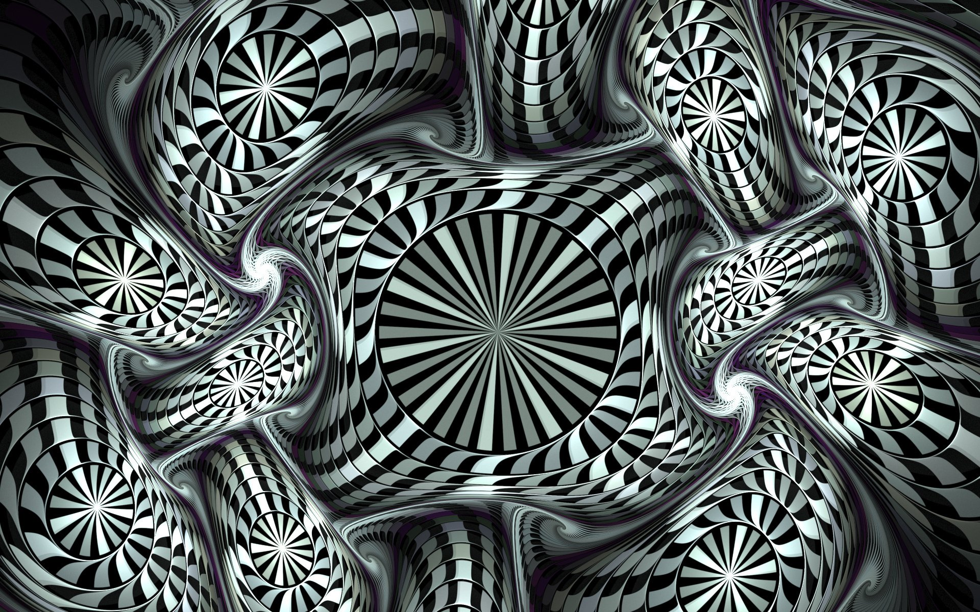 CGI - 3D  Fractal Black & White Digital Digital Art Abstract Wallpaper