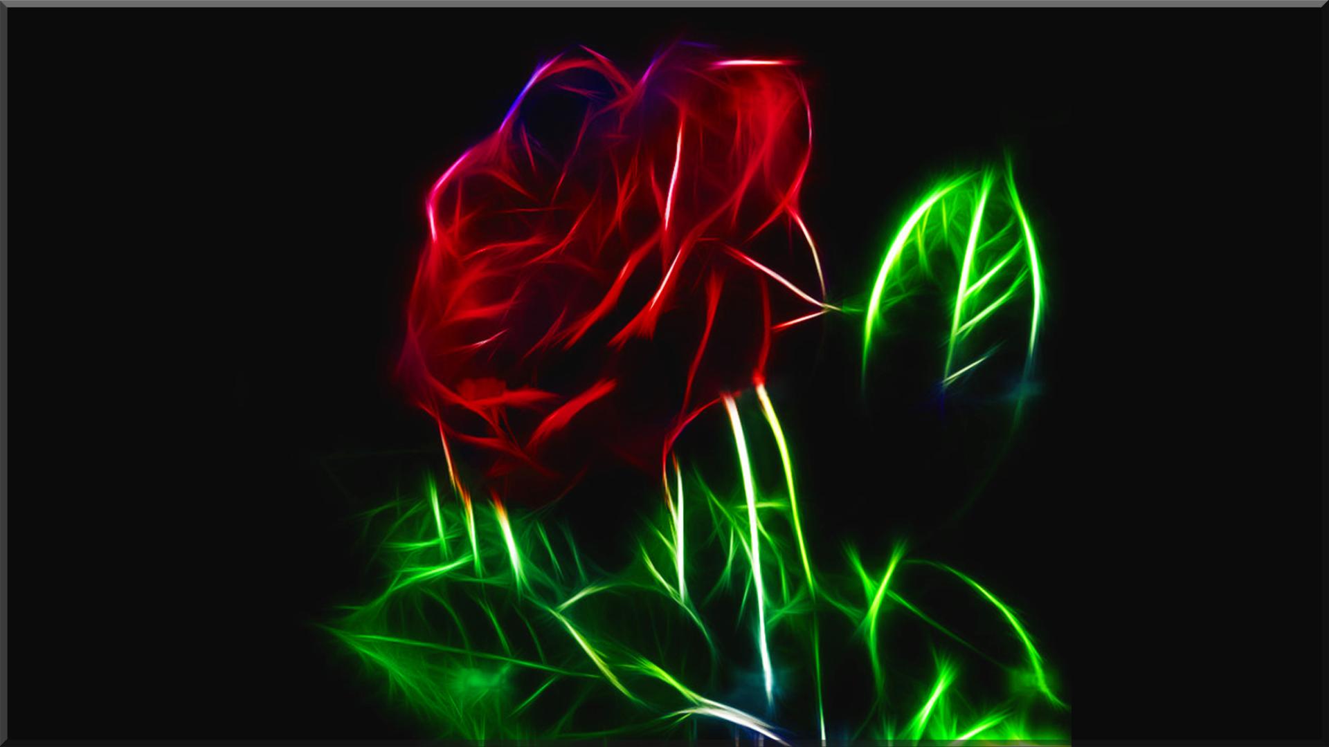 Fractal rose hd wallpaper background image 1920x1080 - Rose desktop wallpaper hd ...