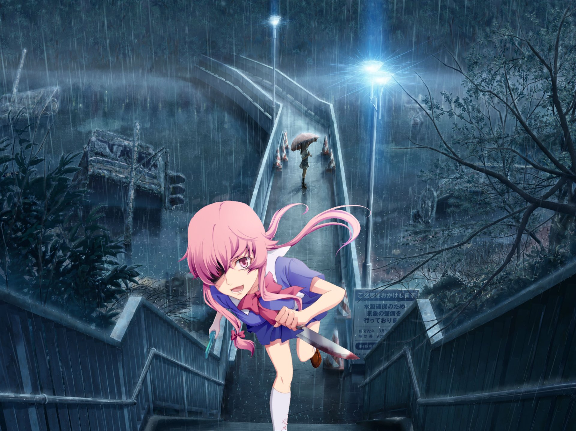 Gasai Yuno Wallpaper: Yuno - Mirai Nikki HD Wallpaper