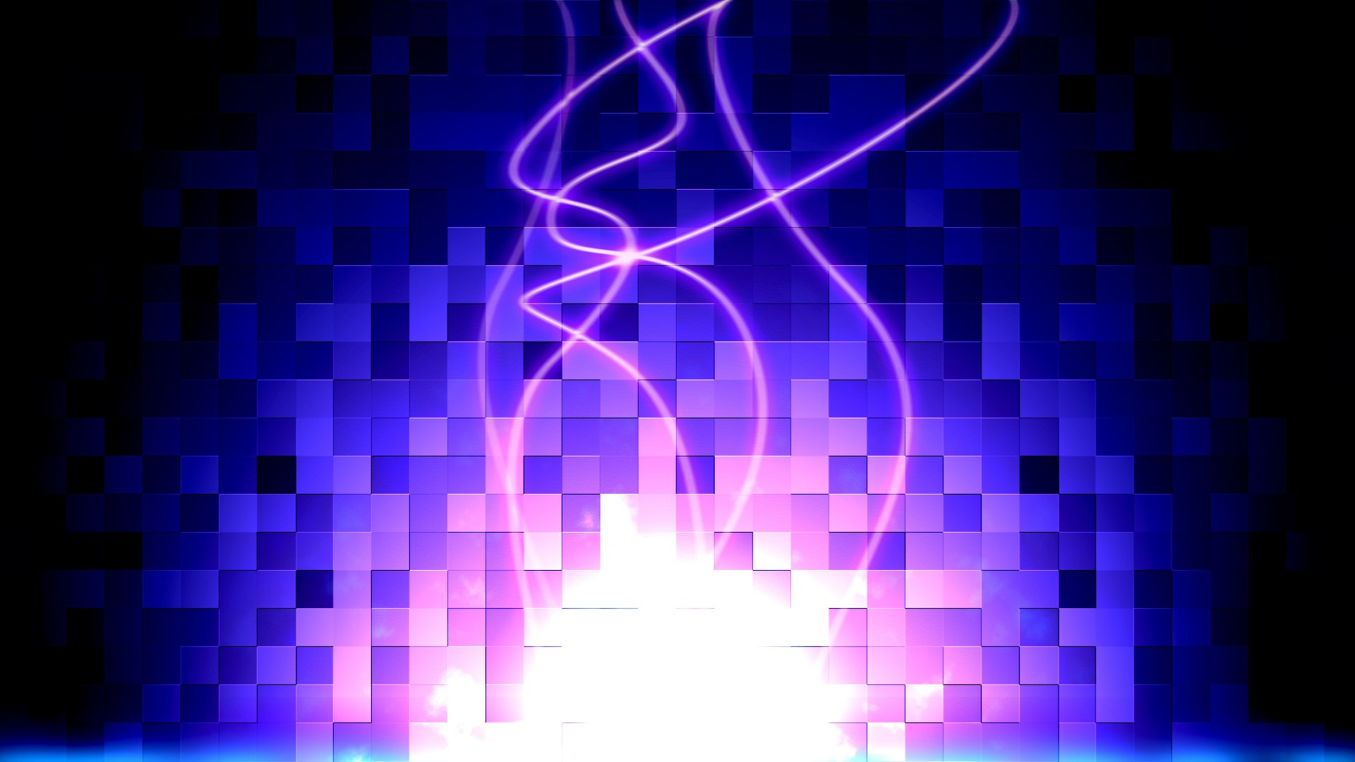 Abstract - Artistic  Gems Glow Purple Square Wallpaper