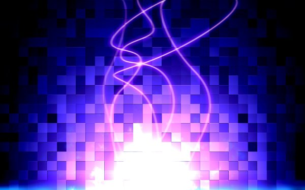 Abstract Artistic Gems Glow Purple Square HD Wallpaper | Background Image