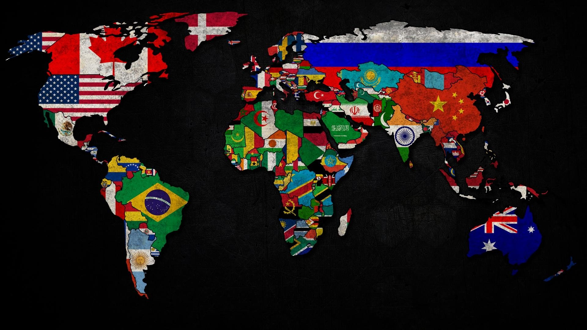World Map HD Wallpaper | Background Image | 1920x1080 | ID ...