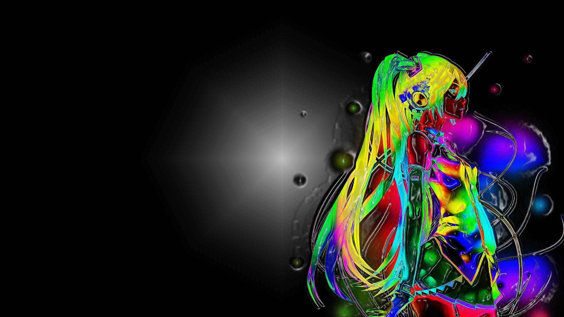 Anime Neon In 3d Duvarkağıdı And Arka Plan 1919x1080 Id400677