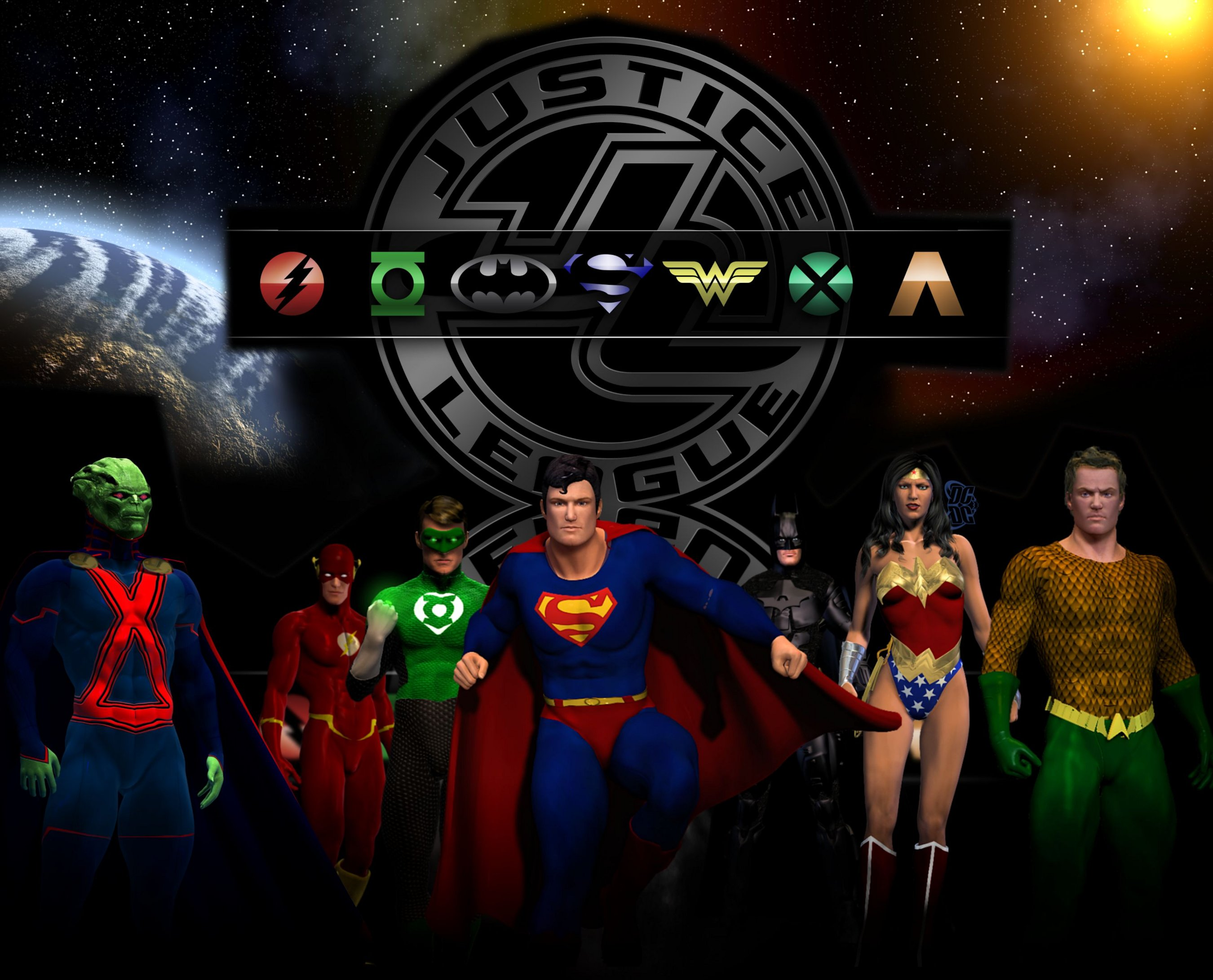 Hd wallpaper justice league - Comics Justice League Jla Dc Comics Superman Martian Manhunter Flash Green Lantern Batman Wonder Woman