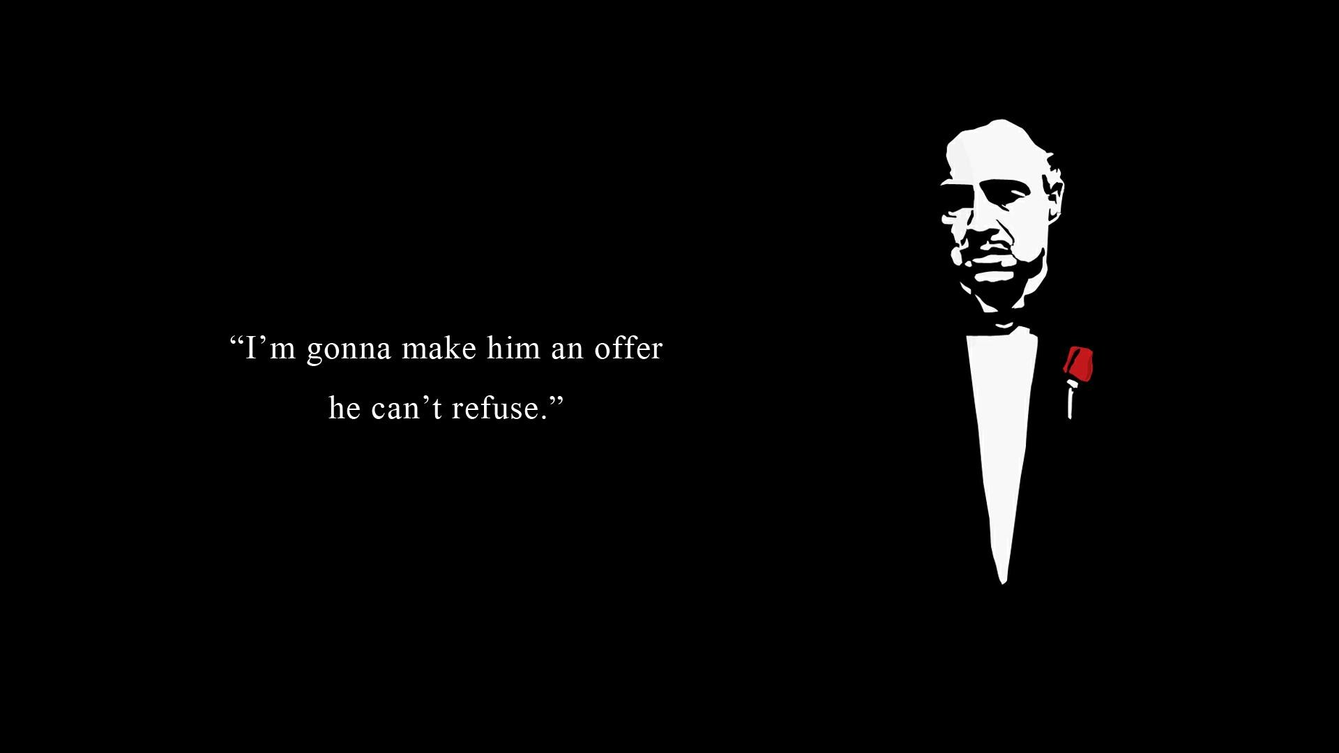 Three Six Mafia Quotes: The Godfather Full HD Wallpaper And Background Image